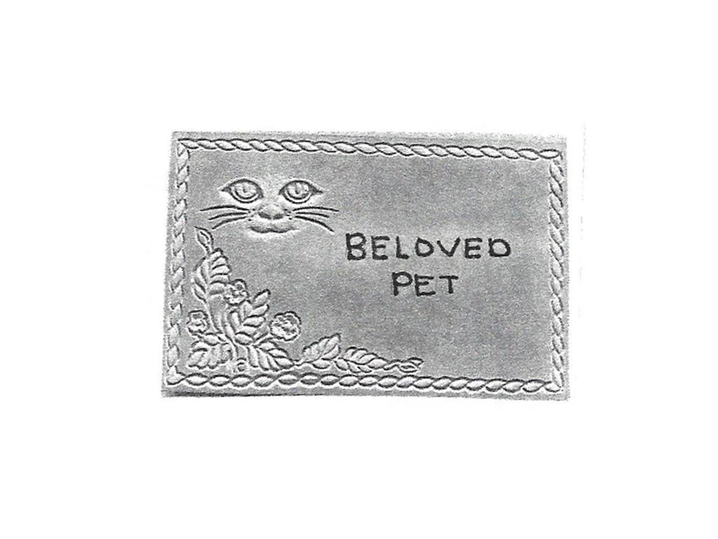 "Beloved Pet Stone - 8"" x 11"" Cat Face"