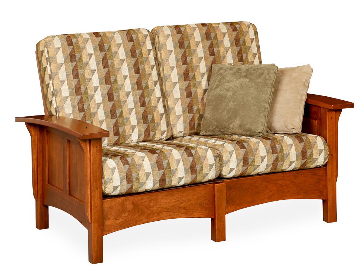 Paneled Mission Love Seat