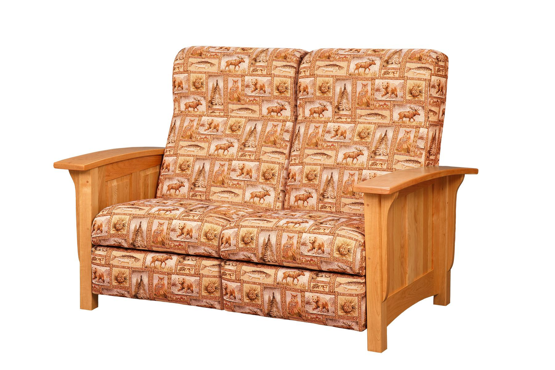 Paneled Mission Recliner Love Seat