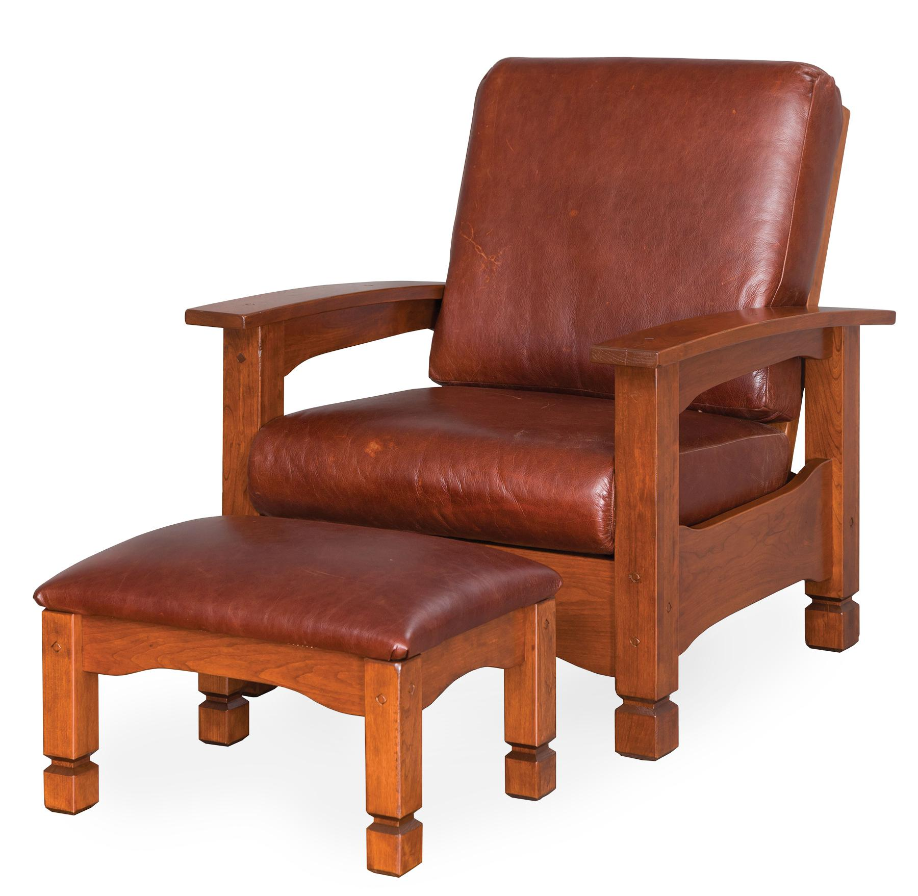 Rustic Country Morris Chair and Ottoman