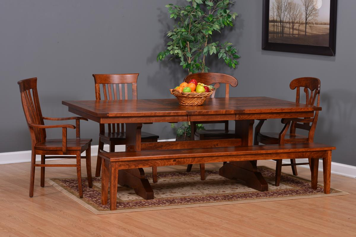 Suburban Trestle Table Dining Room Set