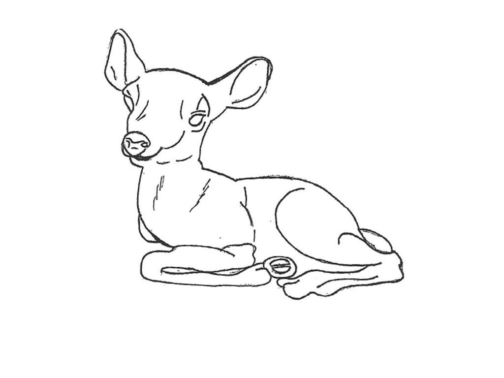 "Fawn Deer - 22"" long"