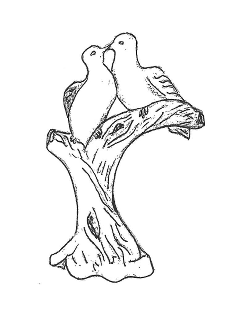 "Doves on Limb - 18"""